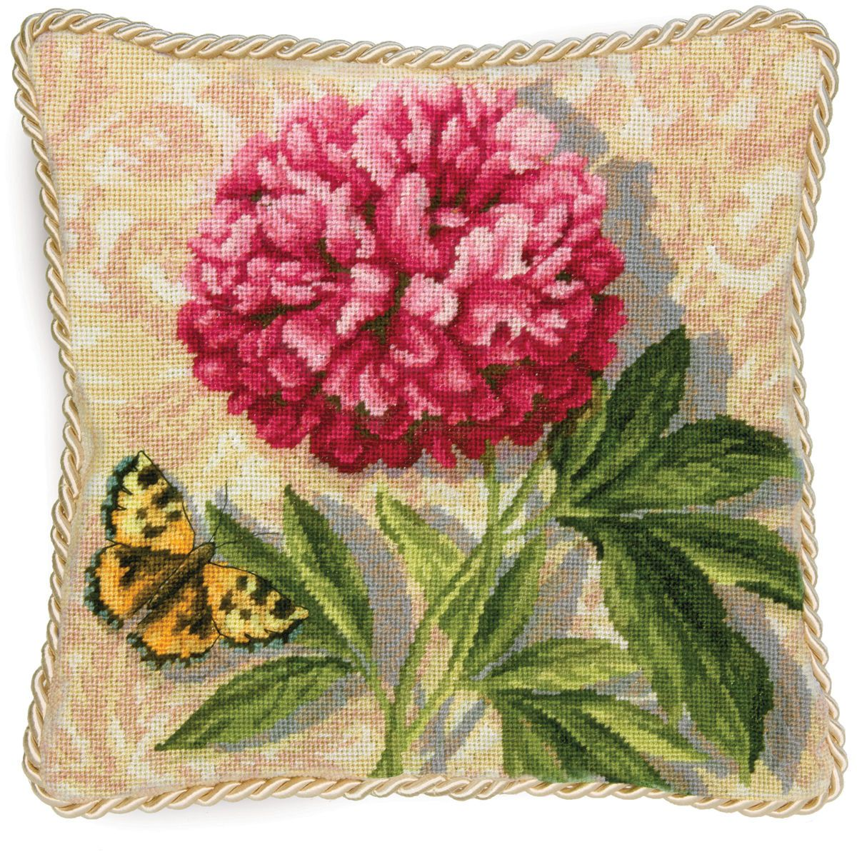 Dimensions Stitched In Wool Needlepoint Kit Peony
