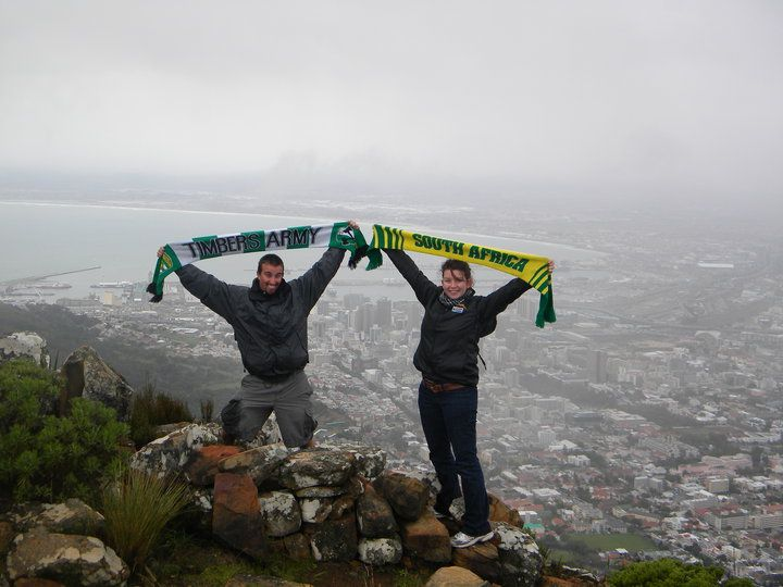Portland Timbers fans in South Africa for world cup. -Ashley Elizabeth