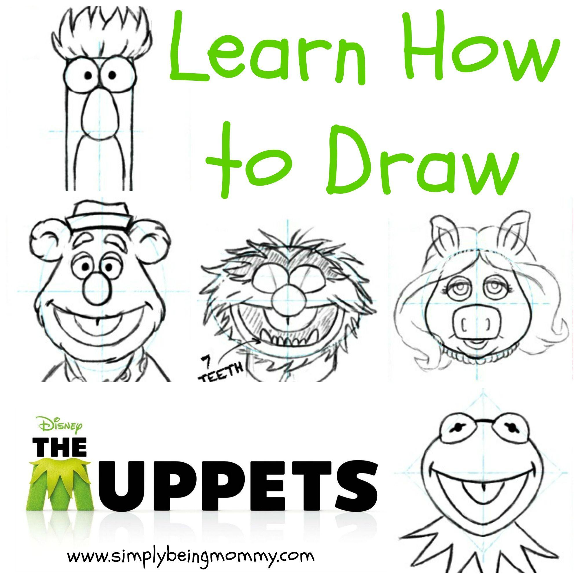 How to Draw The Muppets   Pinterest   Ausmalen, Bastelideen und Malen