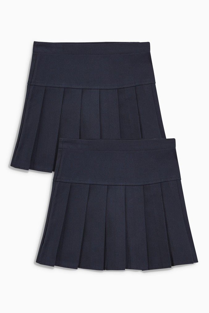 b13fddd662 Girls Next Navy Pleated Skirt Two Pack (3-16yrs) - Blue | Products ...