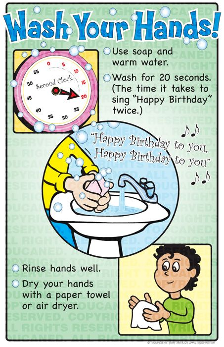 Infection Control, Wash Your Hands Posters for Teens and