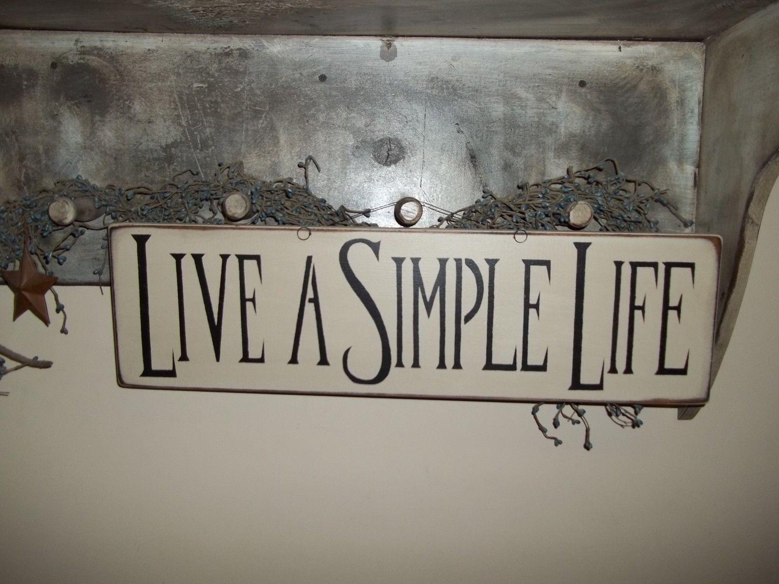 Wood Sign LIVE A SIMPLE LIFE PrimRustic