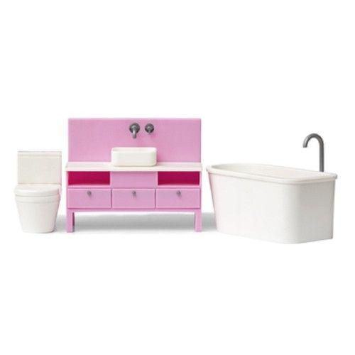 Dolls House Lundby Basic Bathroom Furniture Set