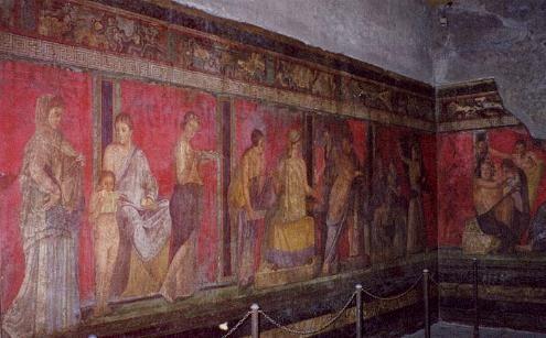 En la imagen, pintura pompeyana de la Villa de los ...