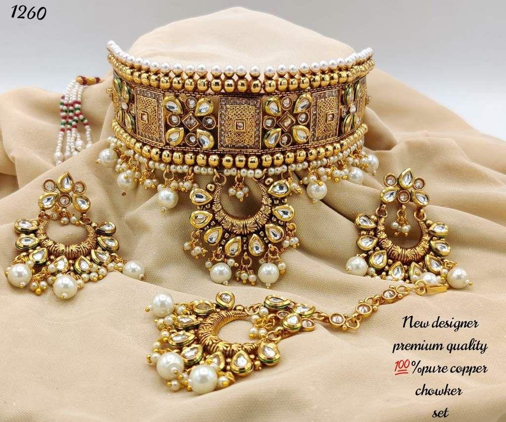 Heavy kundan necklace set with Earrings, for wedding   Custom ...