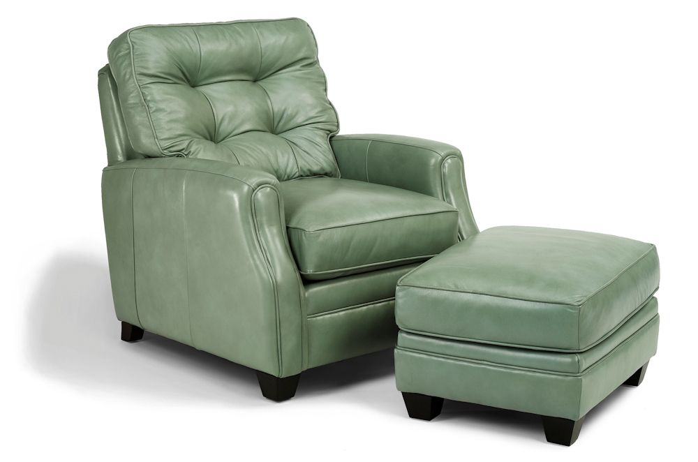 Best Mint Leather Chair With Ottoman By Flexsteel Dimensions 400 x 300