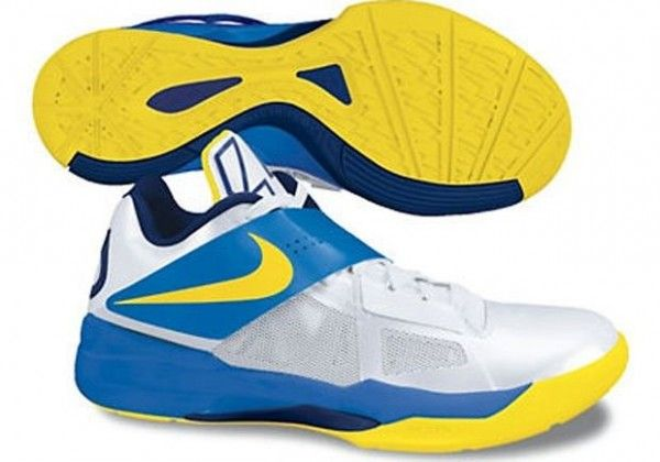 finest selection a7351 befa7 Nike Zoom KD IV White Tour Yellow Photo Blue Midnight Navy 473679 102 Kevin  Durant Shoes 2013