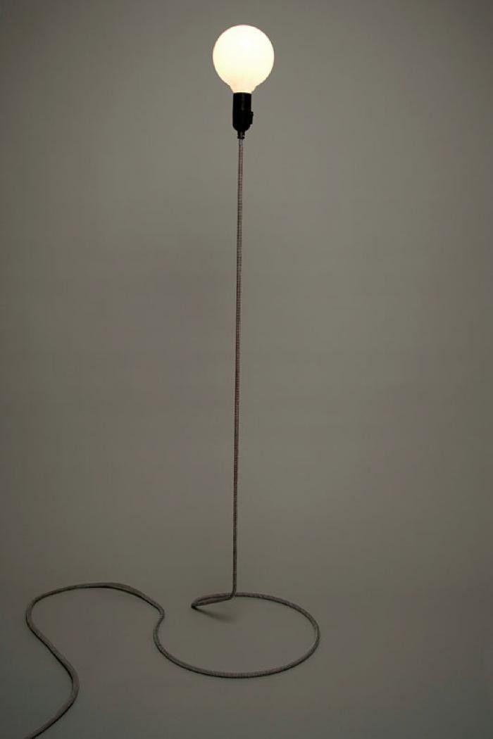 Design House Stockholm Cord Lamp Floor Standing Lamps Metal