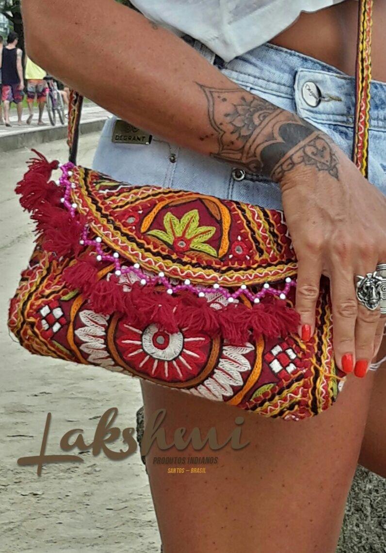 c875ade7100 Bolsa indiana - bordada a mão