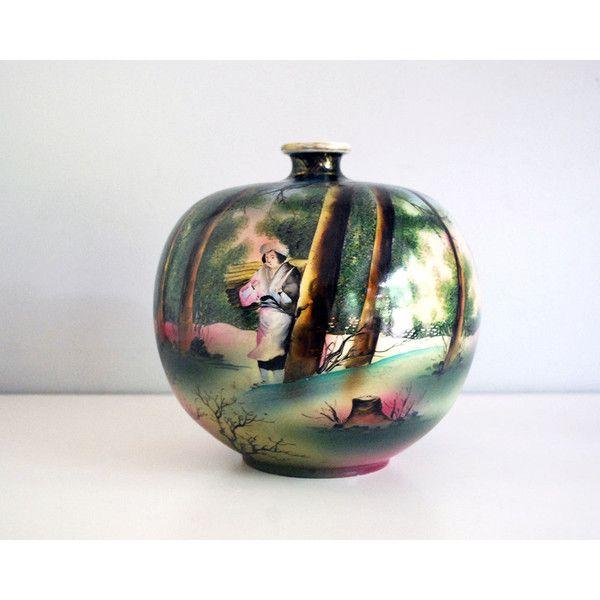 Antique Nippon Vase Royal Nishiki Porcelain Japanese Art Pottery