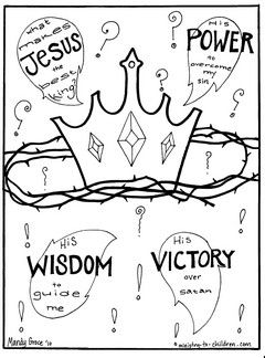 Gospel Coloring Pages: What Makes Jesus the Best King