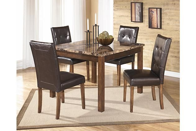 Warm Brown Theo Dining Room Table And Chairs Set Of 5 View 1 Cool Ashley Dining Room Table Set 2018