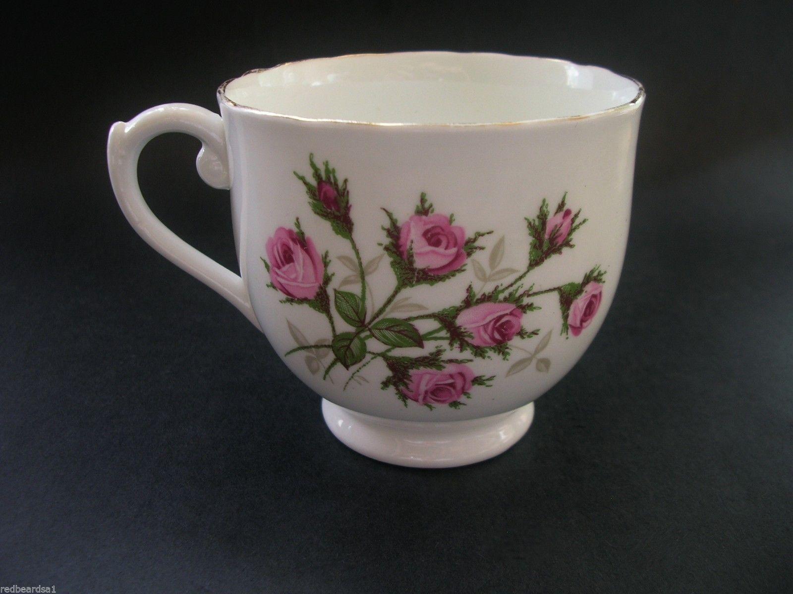 La cesta floral rosada de las rosas taza de té Hammersley Bone China Taza de té…