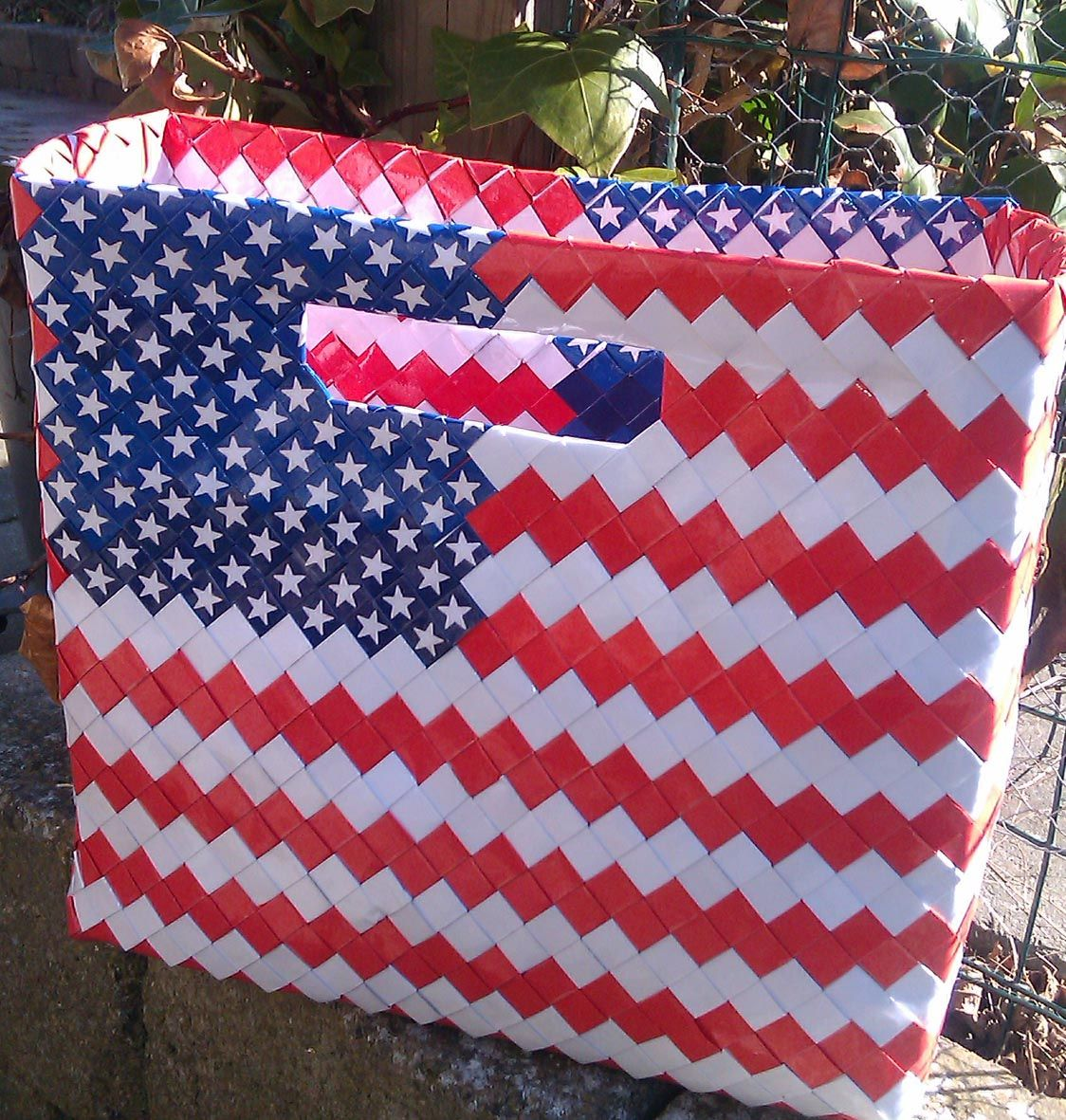 Shopper with inspiration in Stars'n Stripes. Perfect for line dancing and other country and western activities. Shoebag. Original handbag design