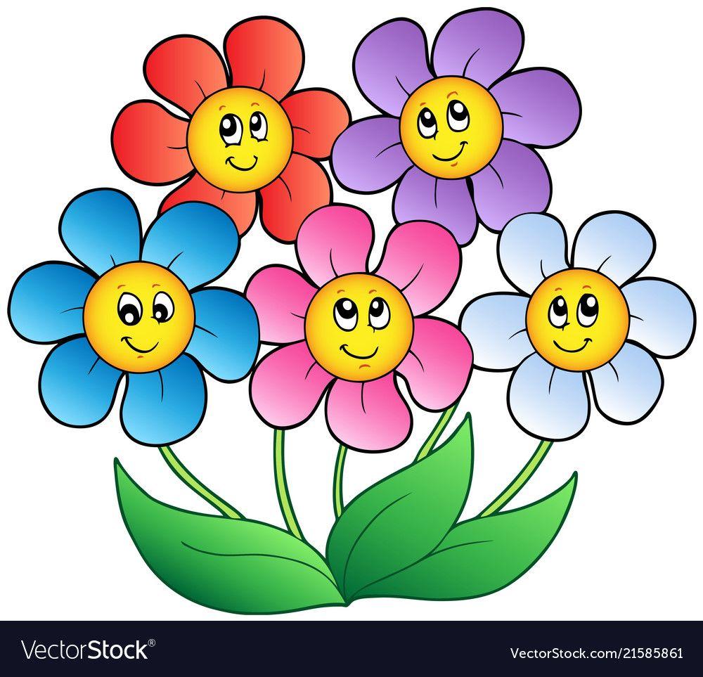 Pin by BONNIE Schlautman on garden decor Cartoon flowers