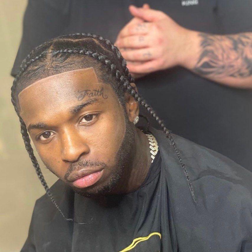 Pop Smoke Rising Star Of American Rap Killed By Burglars Real Name Bashar Barakah Jackson In 2020 Mens Braids Hairstyles Cornrow Hairstyles For Men Boy Hairstyles