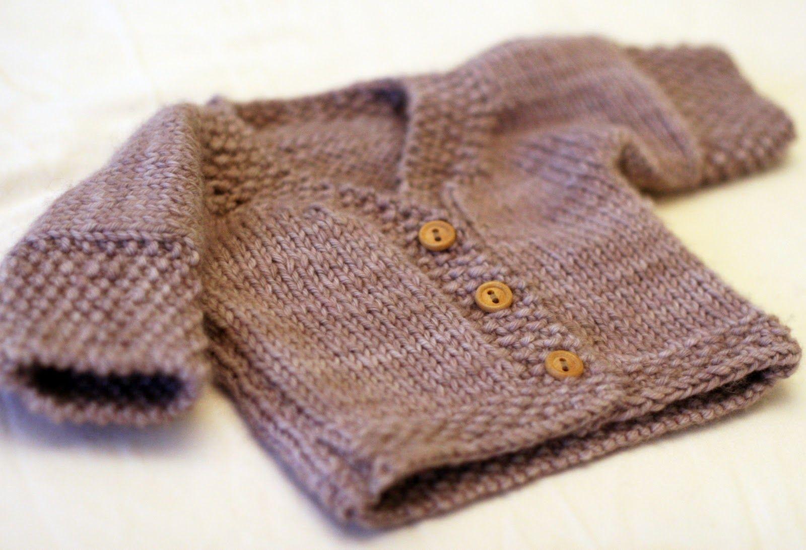 One-piece Baby Cardigan   Knitting   Pinterest   Knit crochet, Baby ...