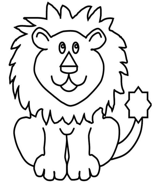 50 Lion Shape Templates Crafts Coloring Pages Lion Coloring