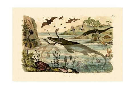 Giclee Print: Prehistoric Animals, 1833-39 : 24x16in #prehistoricanimals Giclee Print: Prehistoric Animals, 1833-39 : 24x16in #prehistoricanimals