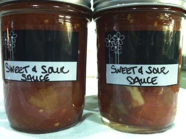 canning Sweet and Sour Sauce