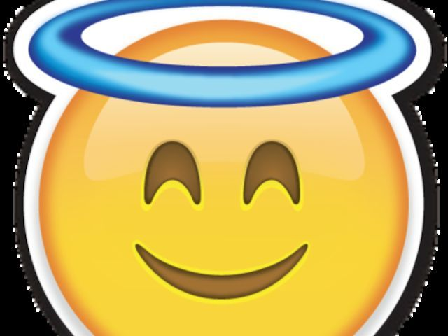 Sweet Angel Smile Emoji Images Emoji Love Angel Emoticon