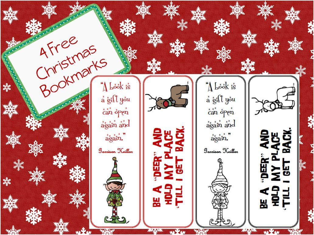 Christmas Bookmarks | Bookmarks, Classroom freebies and Free