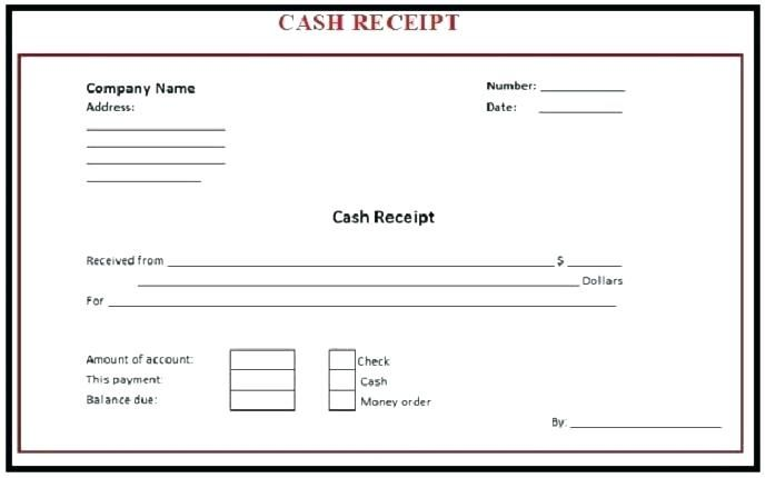 Cash Receipt Invoice Template