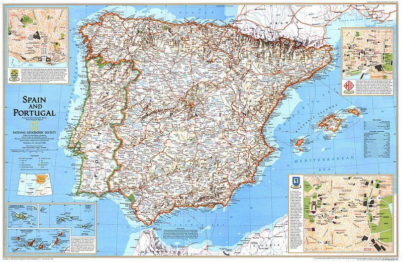 Mapas De Espanha Espanha Viagens E Viagem