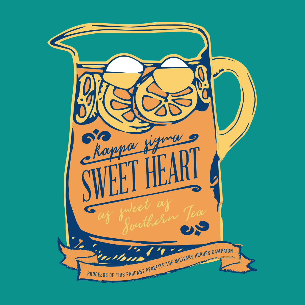 74d3f8f3f11 Kappa Sigma Southern Sweetheart Design by College Hill Custom Threads  sorority and fraternity greek apparel and products! Customize this design  for your ...