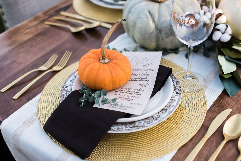A diyfull fall harvest celebration tablescape with cricut