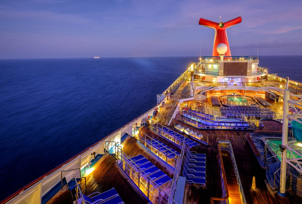 The View Aft Before Dawn Carnival Liberty Cruises And Cruise Ships - What is aft on a cruise ship