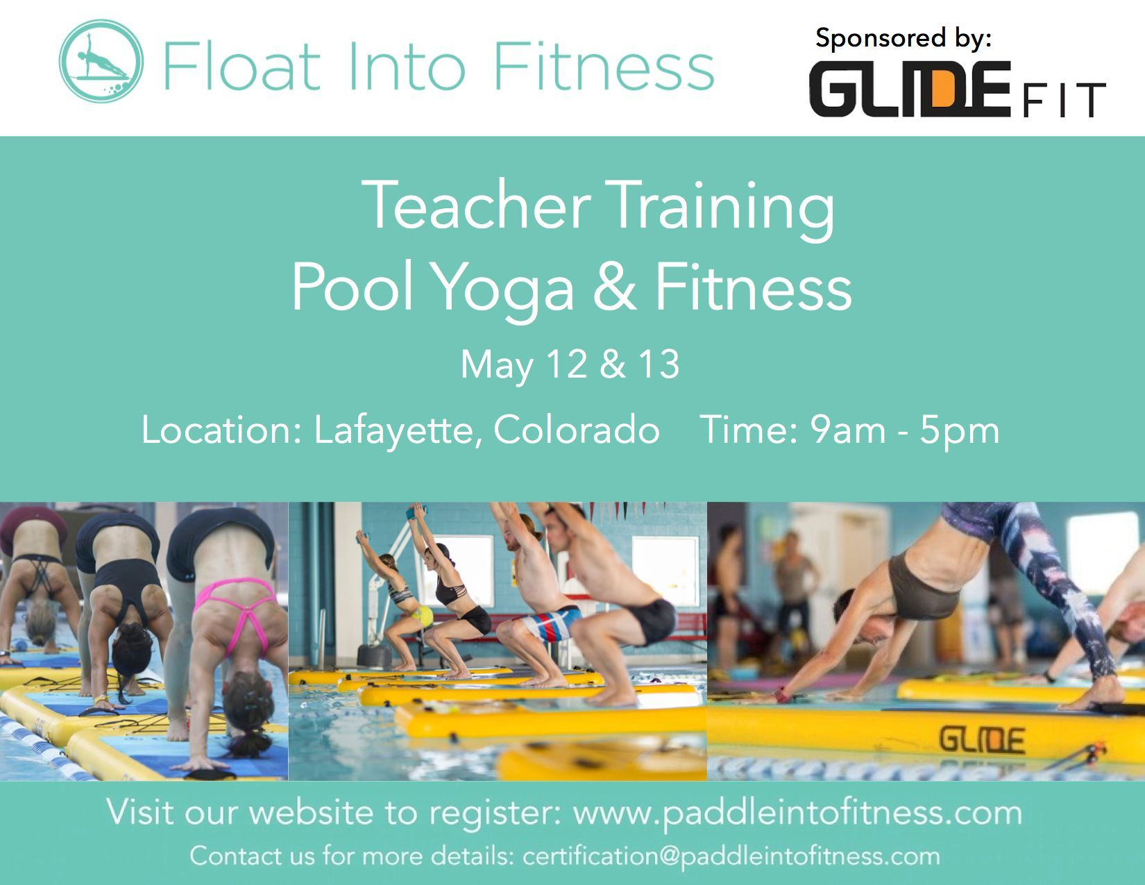 Registration is now open for our float into fitness pool teacher registration is now open for our float into fitness pool teacher certification in colorado two days of dynamic pool yoga and fitness training 1betcityfo Gallery