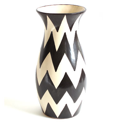 Large Black Zigzag Vase Large Black And Black