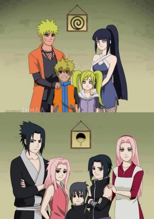 Familia de Naruto y Familia de Sasuke