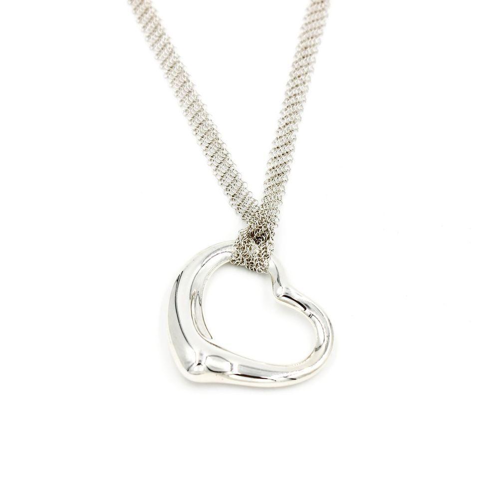 a80785cb0 Elsa Peretti Letter L Pendant on Chain Sterling Silver Necklace #TiffanyCo # Pendant   Tiffany & Co. Elsa Peretti Jewelry   Jewelry, Sterling silv…