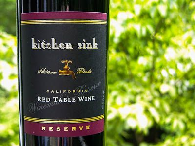 Kitchen Sink Red Wine Reserve Wine Red Wine Wine Tasting