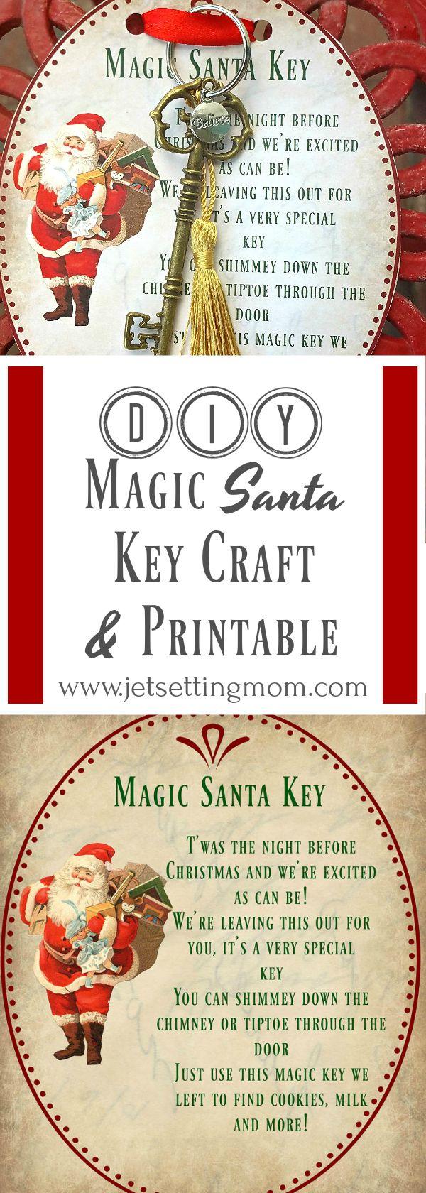 DIY Magic Santa Key How-To & FREE Printable #christmas #craft #printable #free   Santa's magic ...