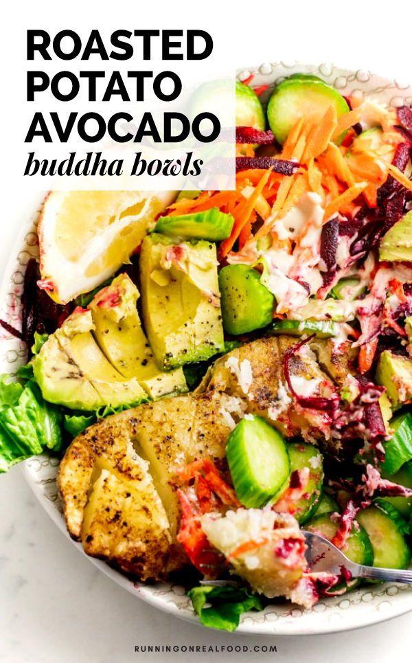 Avocado And Roasted Potato Buddha Bowls