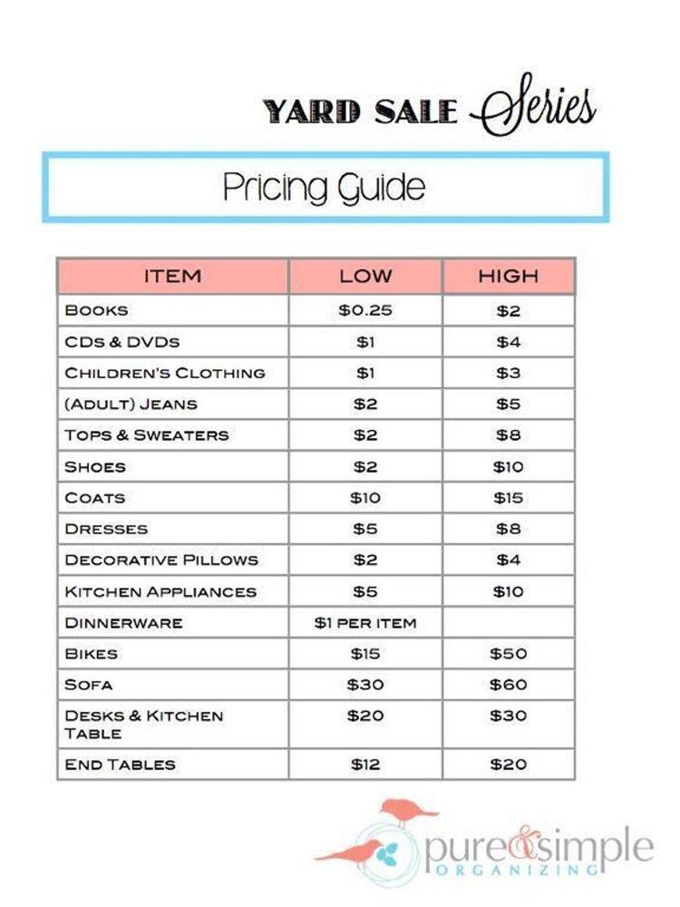 404 Craftsy Yard Sale Hacks Garage Sale Tips Yard Sale Organization
