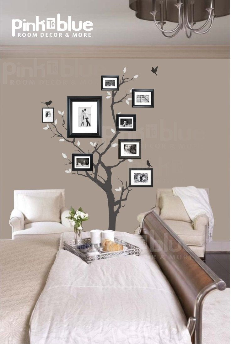 Picture frame family tree wall art tree decals trendy wall designs - Tree Wall Decals Wall Stickers Family Tree Wall Decal Photo Frame Tree Decal