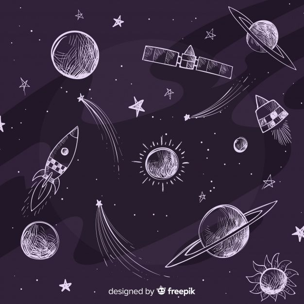 Lovely Hand Drawn Galaxy Background Galaxy Background How To Draw Hands Galaxy