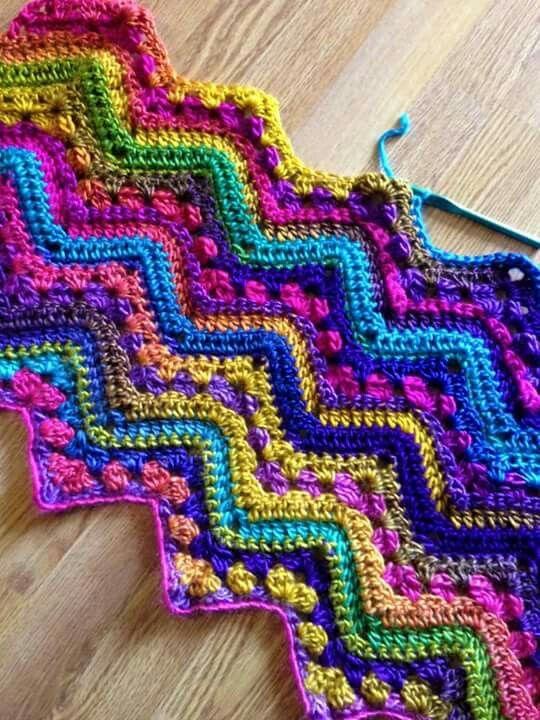 Pin de paula ogalde leon en Crochet   Pinterest   Manta