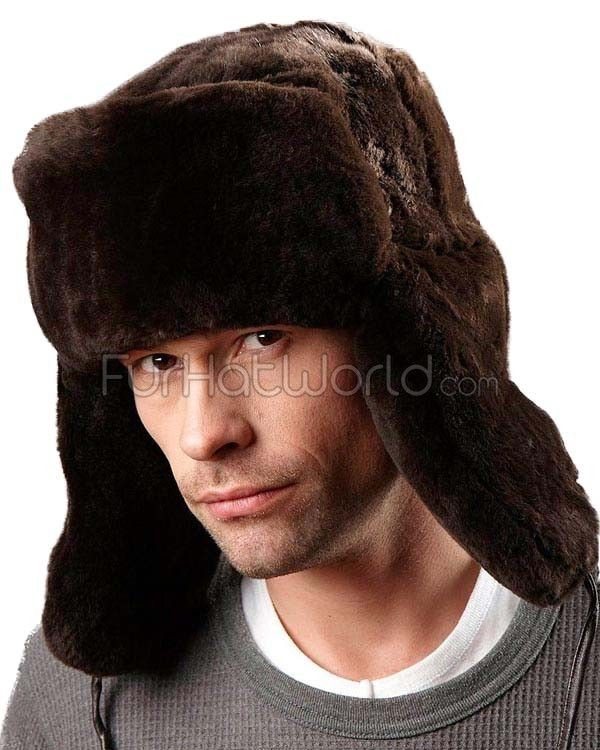 9c03ceb540686 Sheared Beaver Full Fur Russian Hat for Men | // Men's Fur Hats For ...