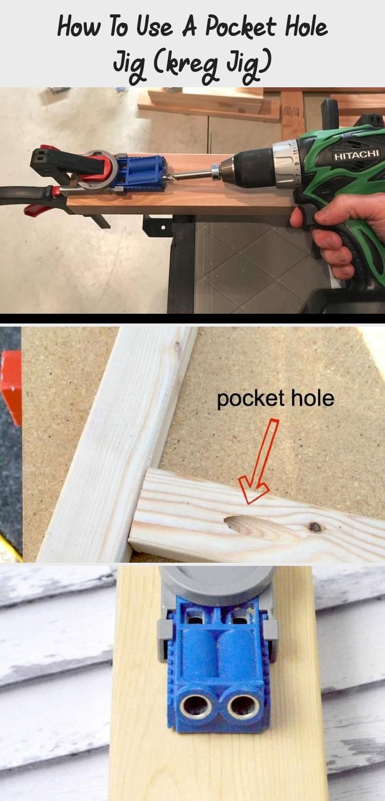Learn All About The Pocket Hole Jig Otherwise Known As A Kreg Jig Use This Tool To Make Your Woodworking Stron Pocket Hole Pocket Hole Jig Learn Woodworking