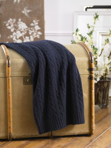 Ralph Lauren Home Cabled Cashmere Throw Blanket Throws Cushions Uk