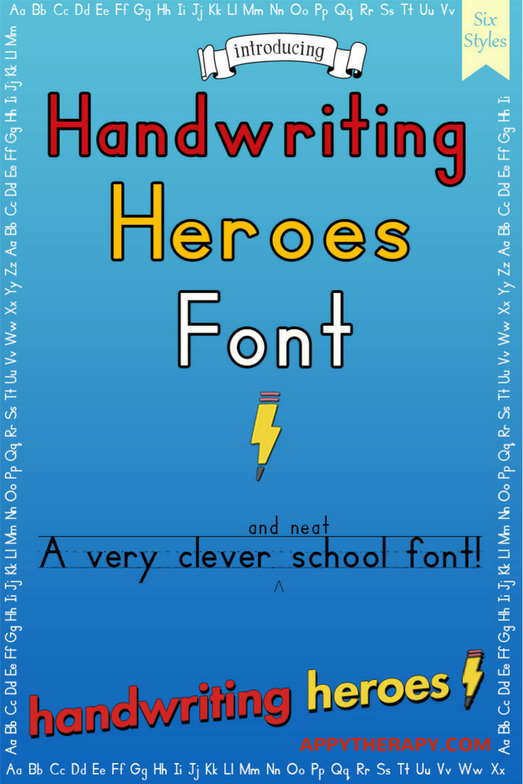 Handwriting Heroes Font   Handwriting, iPad app and Worksheets