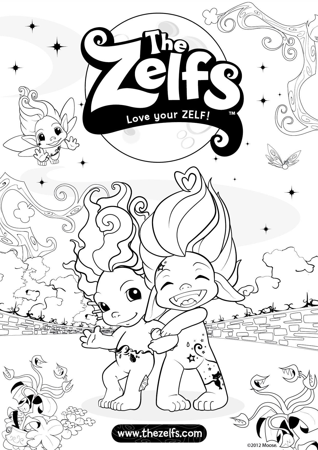 zelfs coloring pages | Zelfs coloring page | Zelfs | Coloring books, Coloring ...
