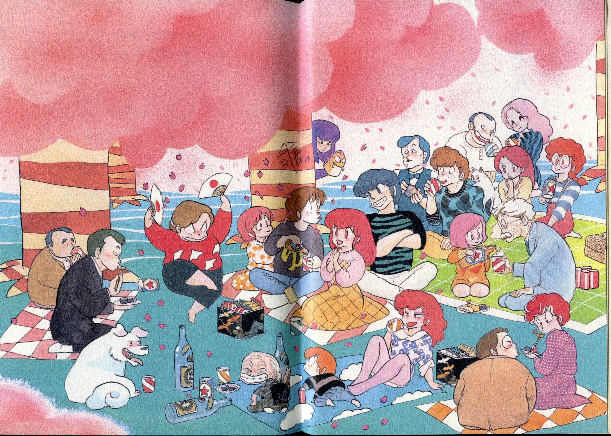 Maison ikkoku artbook hanami celebration rumiko takahashi for Anime maison ikkoku
