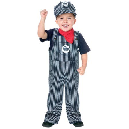 Large3T-4T Blue//White Fun World Costumes Baby/'s Train Engineer Toddler Costume