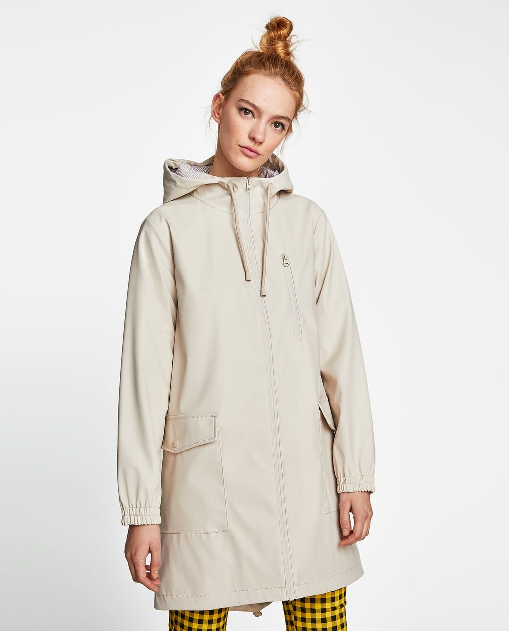 79c45940f7 Image 2 of WATER REPELLENT RUBBERIZED PARKA from Zara | She Wears ...